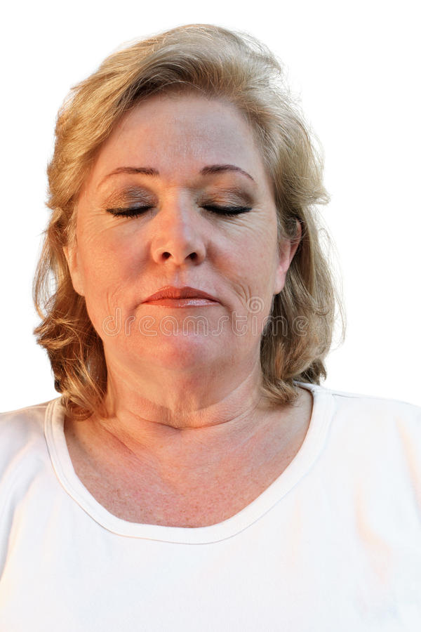 Relaxed mature woman