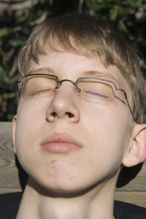 Relaxed teenager royalty free stock photo