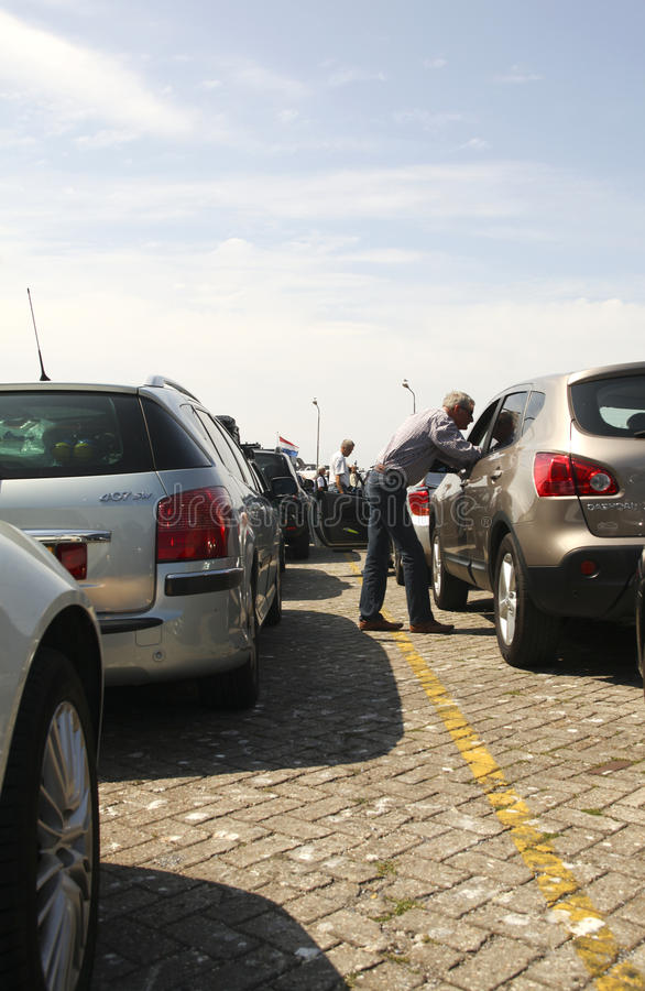 Relaxed traffic jam royalty free stock image