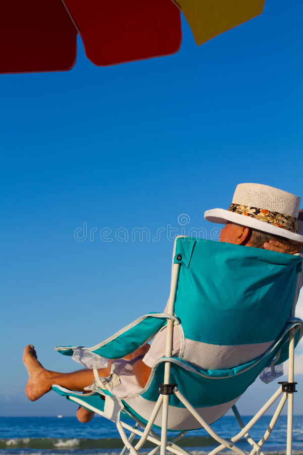 Free Relaxed Vacation Man Royalty Free Stock Photos - 19848828
