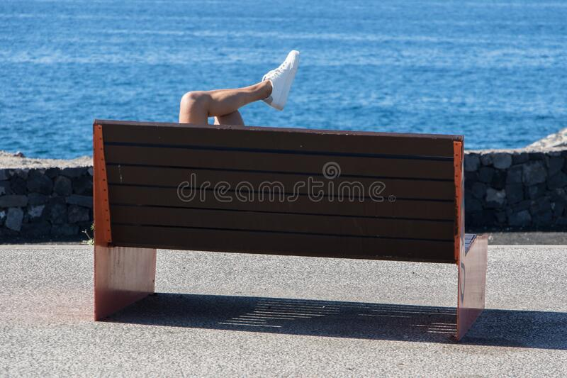 Relaxed view of the Atlantic Ocean stock images