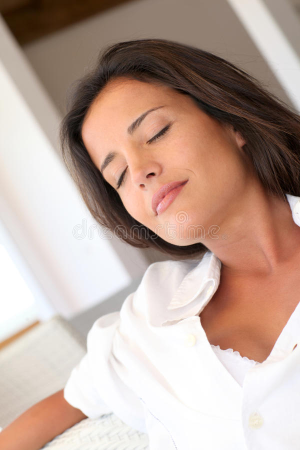 Relaxed woman royalty free stock photos