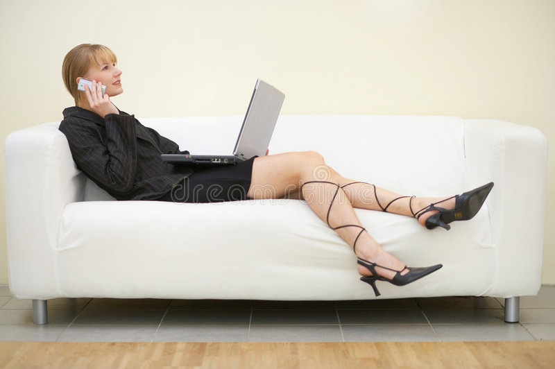 Relaxed working royalty free stock images