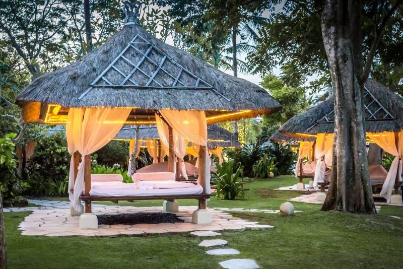 Relaxhütte in Bali lizenzfreie stockbilder