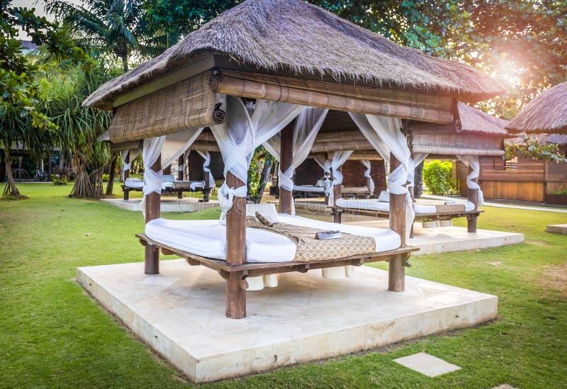 Relaxhütte in Bali stockfotos