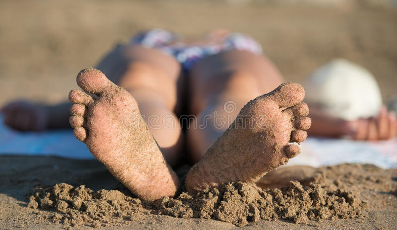 Download Relaxing stock photo. Image of travel, sand, people, foot - 28814768