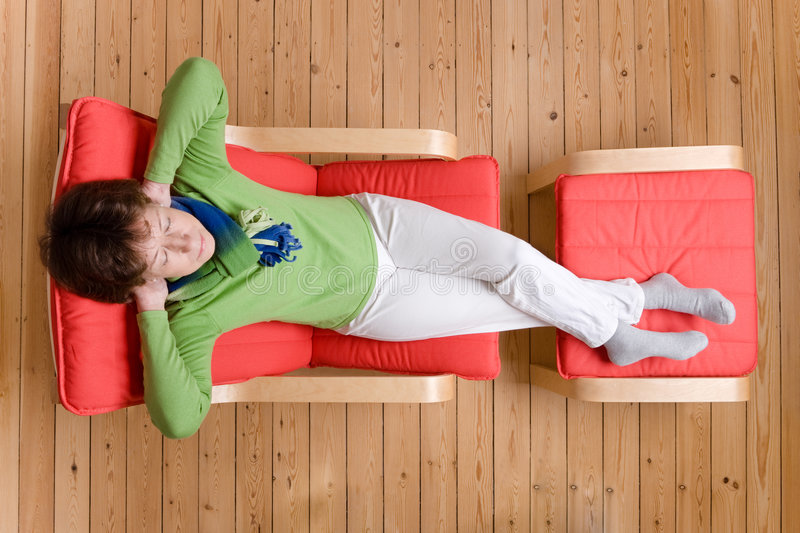 Relaxing royalty free stock photography