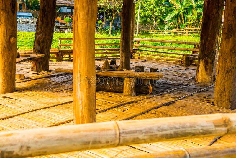 Relaxing area inside Thai country pavilion. Thailand stock images