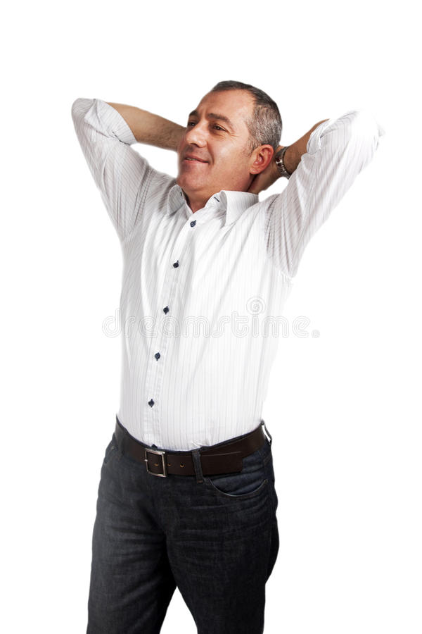 Download Relaxing attractive man stock photo. Image of body, cheerful - 16915344