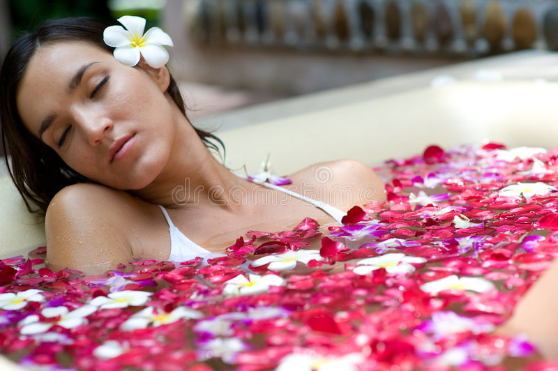 Download Relaxing In Bath stock photo. Image of vacation, treatment - 4501304