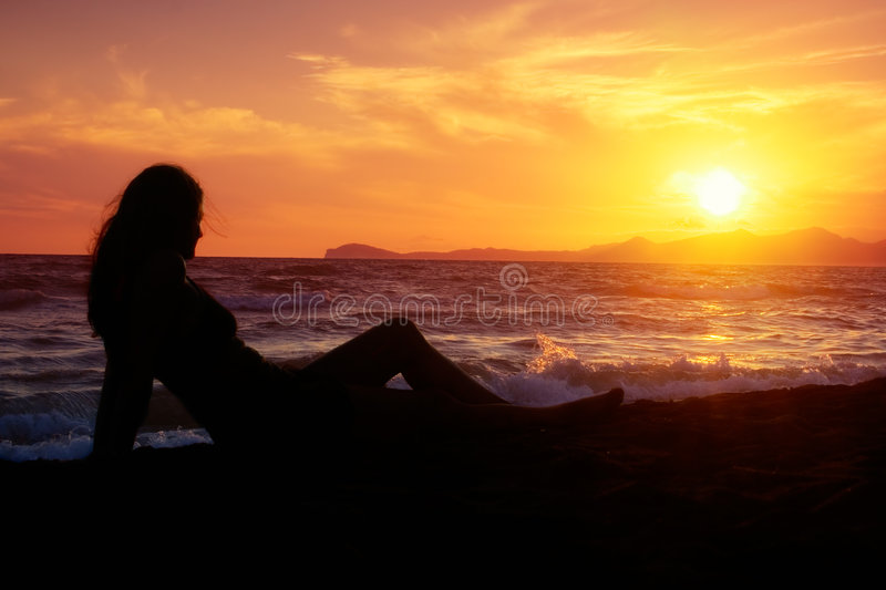 Download Relaxing at the Beach stock image. Image of distress, joga - 1225645