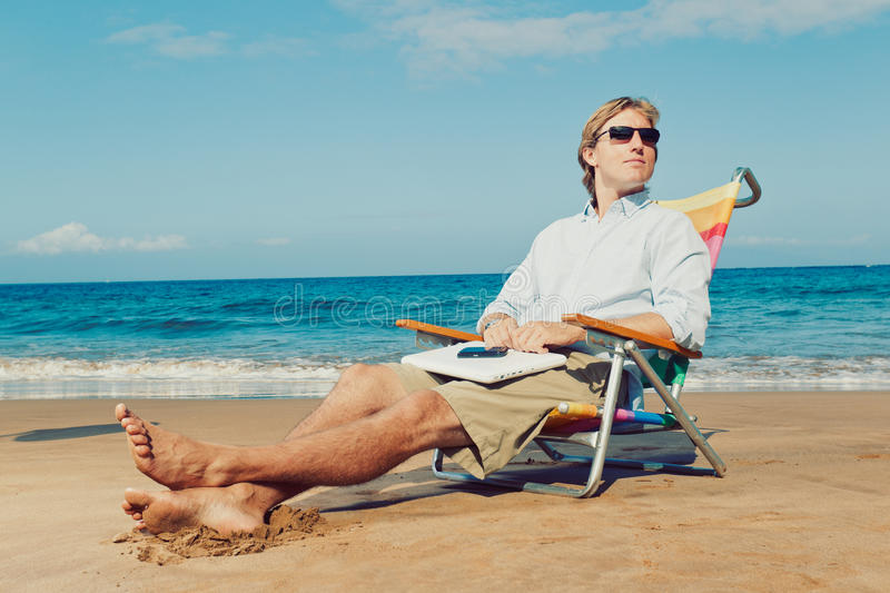 Download Relaxing at the Beach stock photo. Image of cell, corporate - 24065084