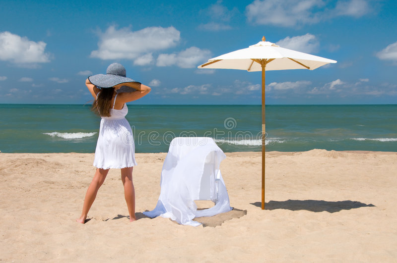 Relaxing at the Beach royalty free stock photo