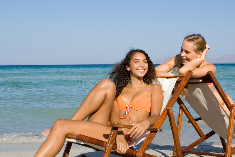 Download Relaxing On Beach Summer Holiday Stock Photo - Image: 3271922