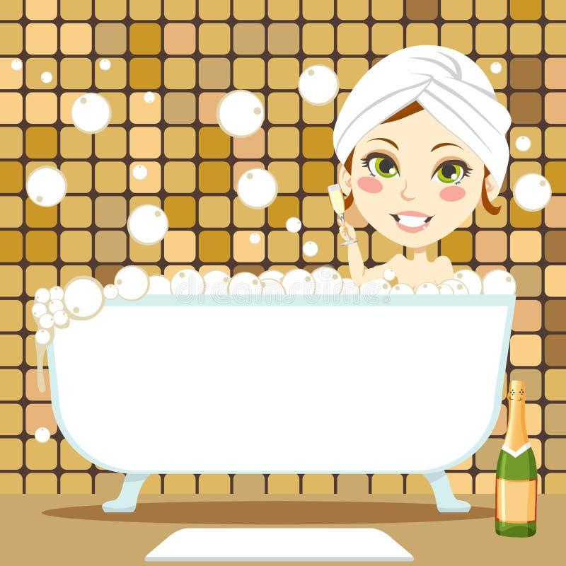 Relaxing Bubble Bath Royalty Free Stock Photos