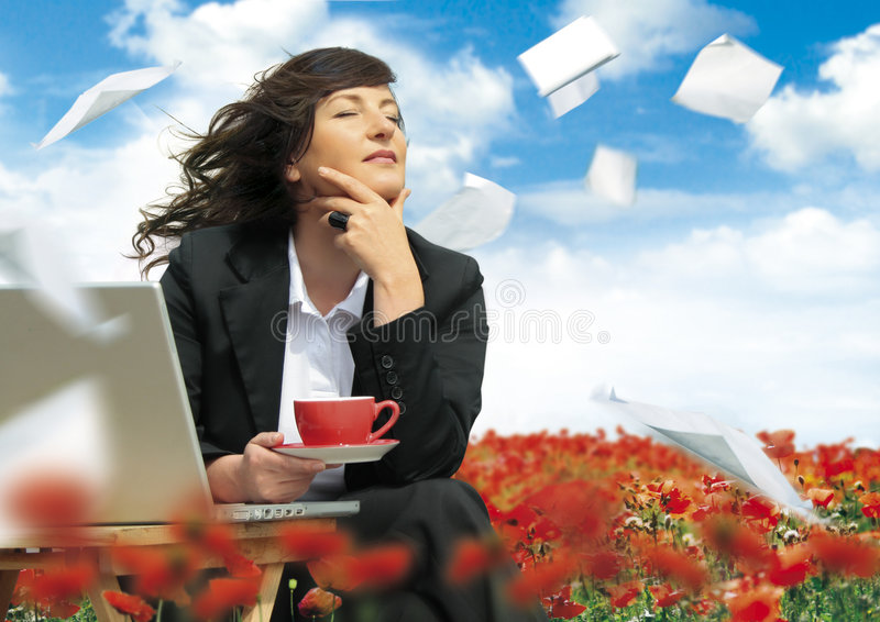 Relaxing business 17_2 royalty free stock photo