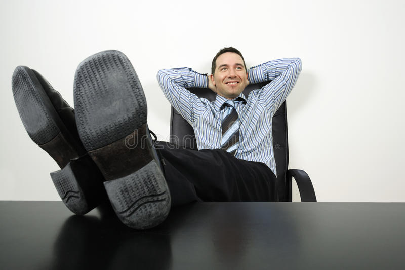 Download Relaxing businessman stock image. Image of dreaming, smile - 13340313