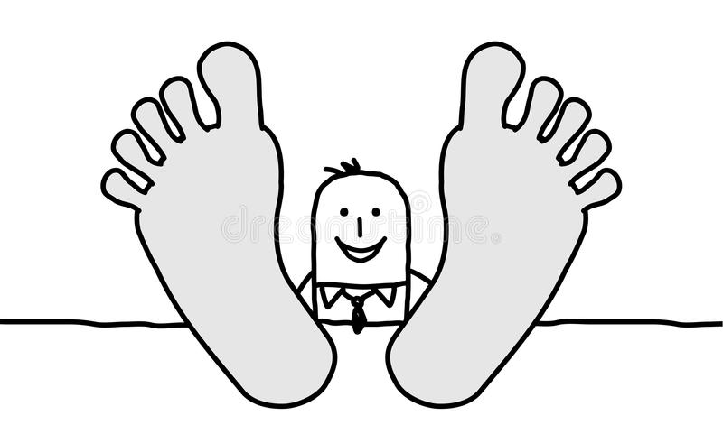 Download Relaxing  businessman stock vector. Image of relax, line - 13484768