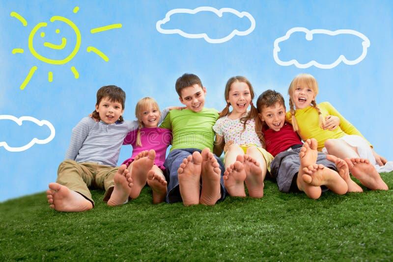 Relaxing children stock photos