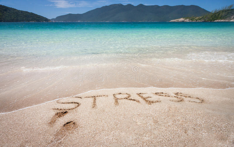 Let Stress Go Away Royalty Free Stock Photos