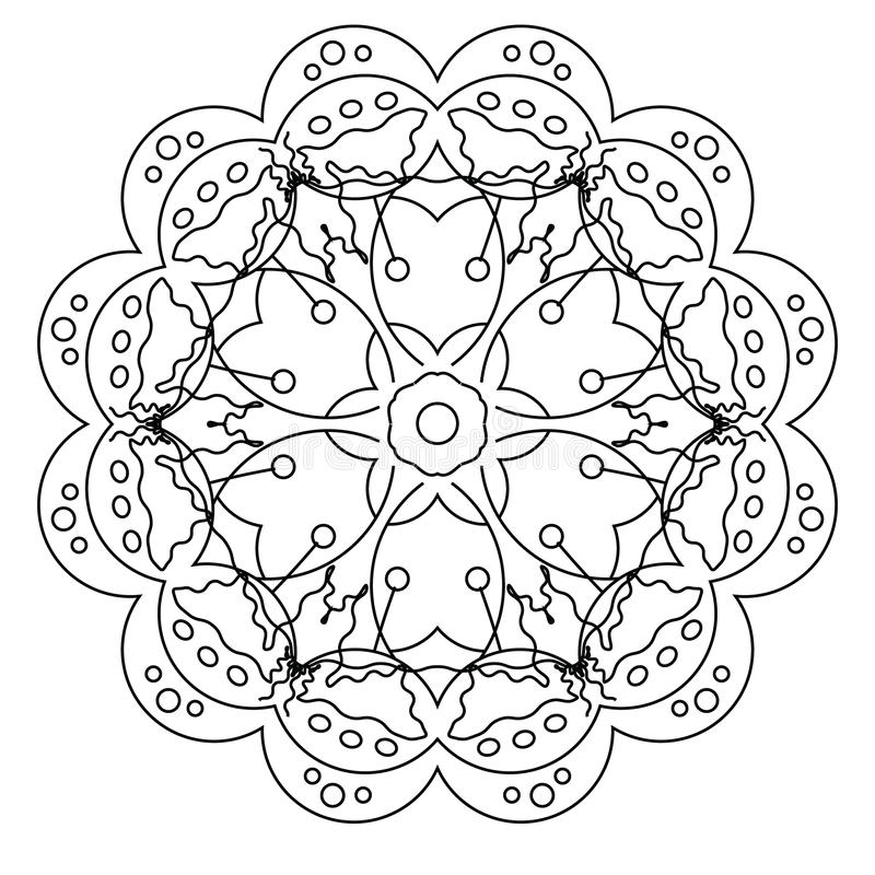 Relaxing Coloring Page With Mandala For Kids And Adults, Art ...