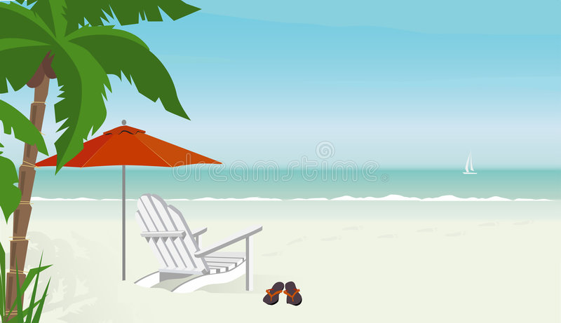 Download Relaxing Day at the Beach stock vector. Image of coconut - 4349069
