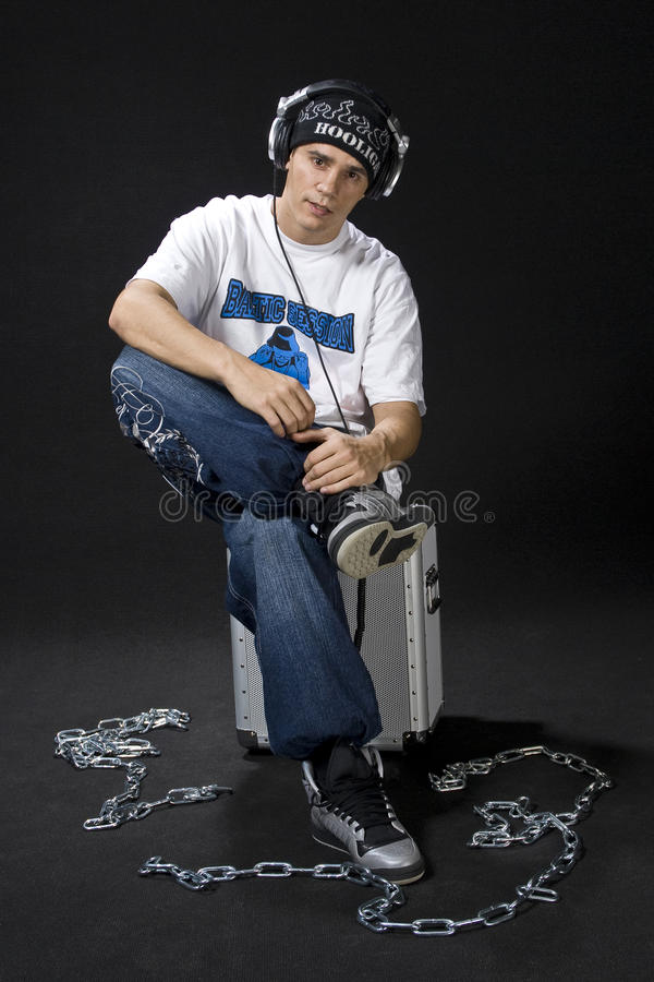 Relaxing Deejay stock image