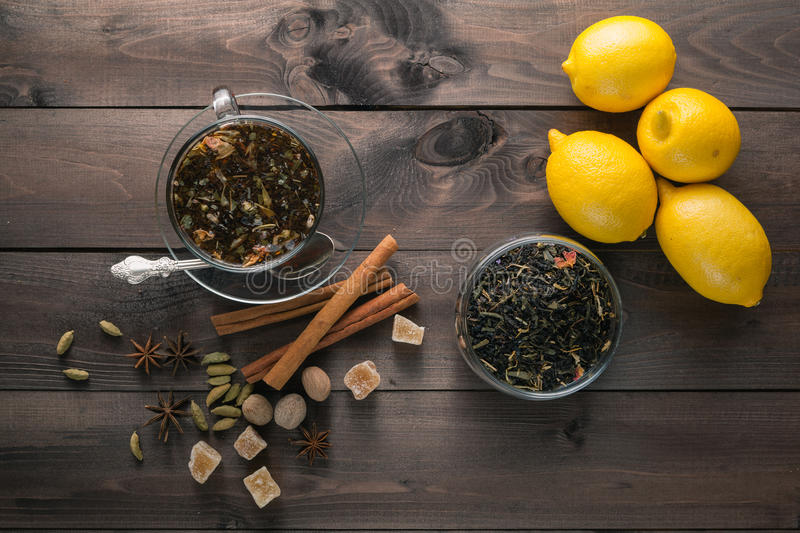 Relaxing evening herbal tea royalty free stock images