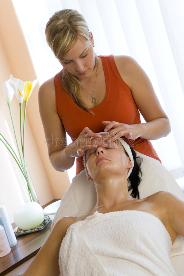 Relaxing Facial Treatment royalty free stock photo