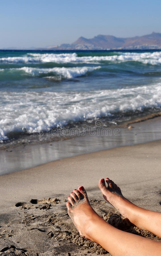 Download Relaxing feet stock image. Image of foot, paradise, coast - 31577301