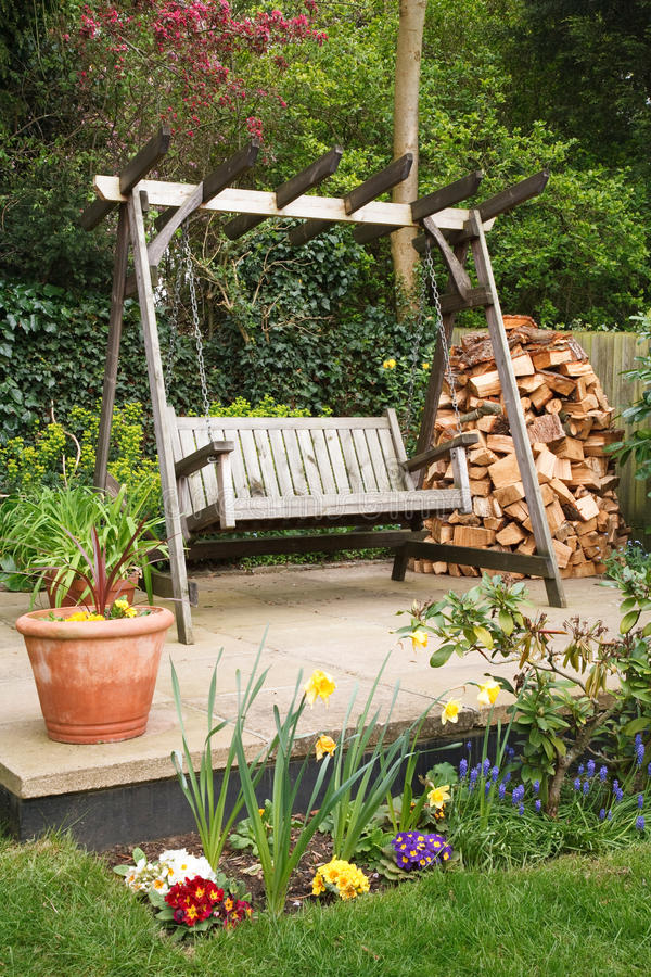 Relaxing garden royalty free stock image