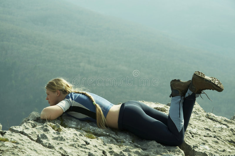Relaxing girl royalty free stock images