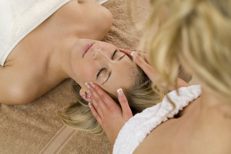 Download Relaxing Head Massage stock image. Image of beautician - 4979859