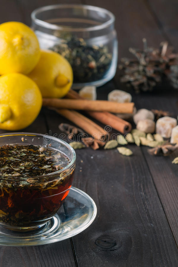 Relaxing herbal tea stock photography