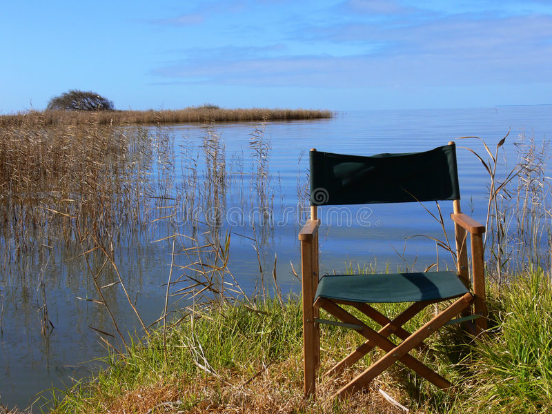 Download Relaxing lakeside stock photo. Image of relax, sitting - 966106