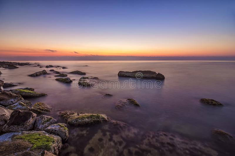 Relaxing long exposure seascape stock images