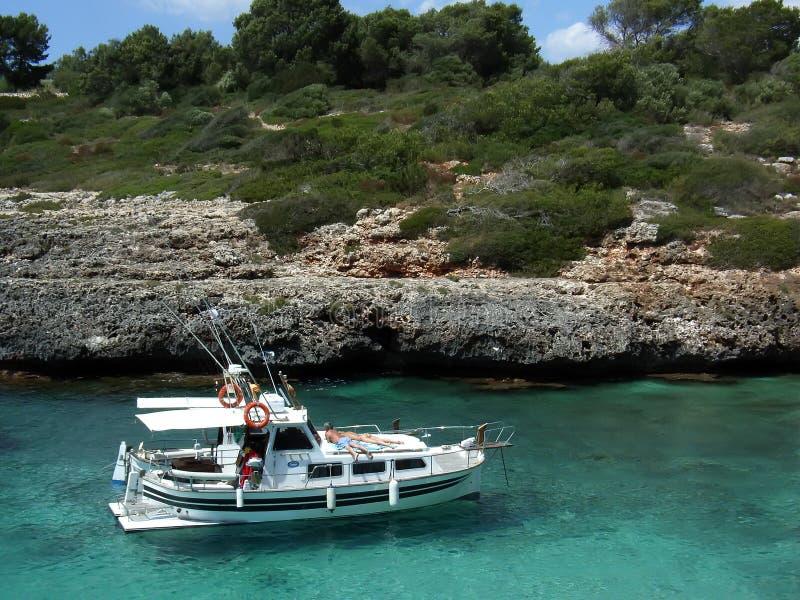 Relaxing in Majorca stock image