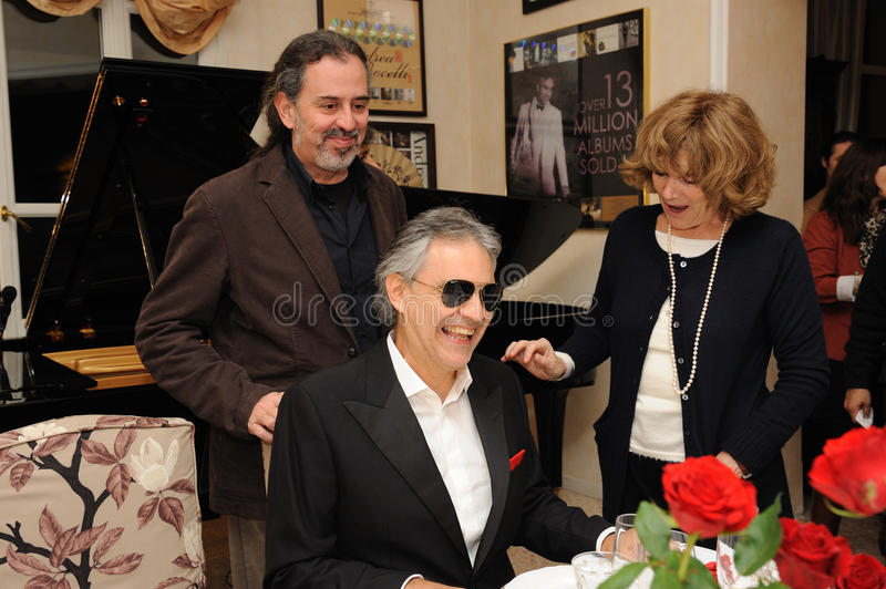 Andrea Bocelli at home stock images