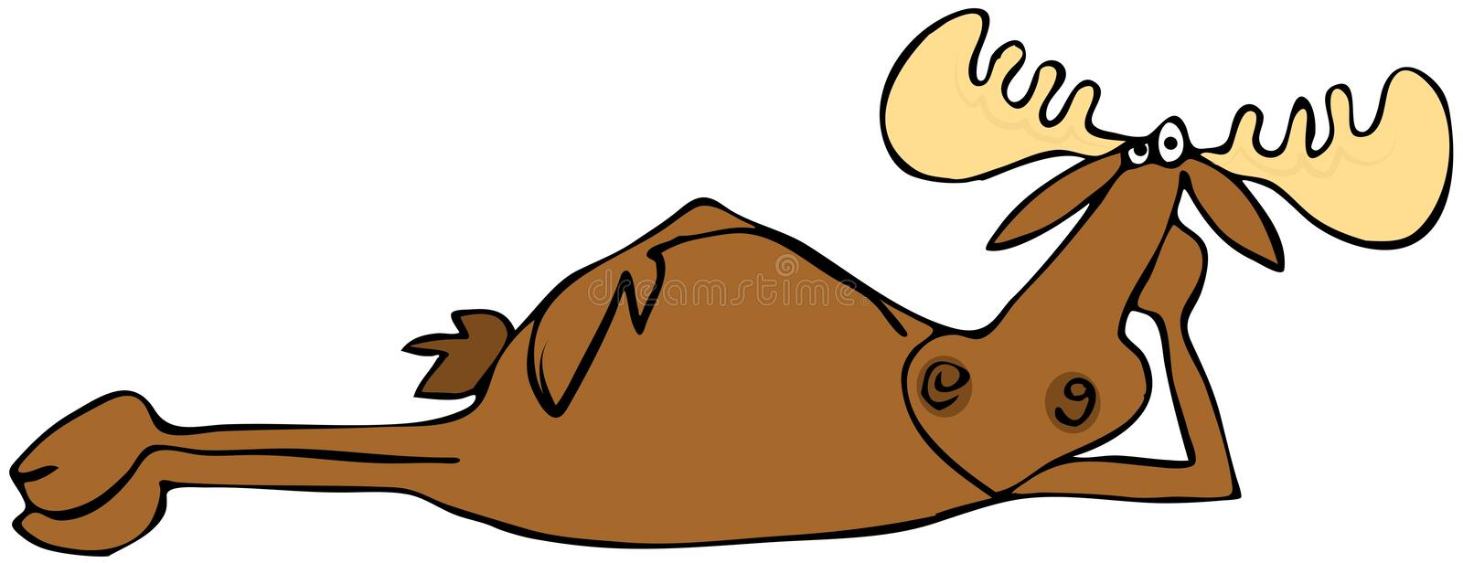 Relaxing moose vector illustration