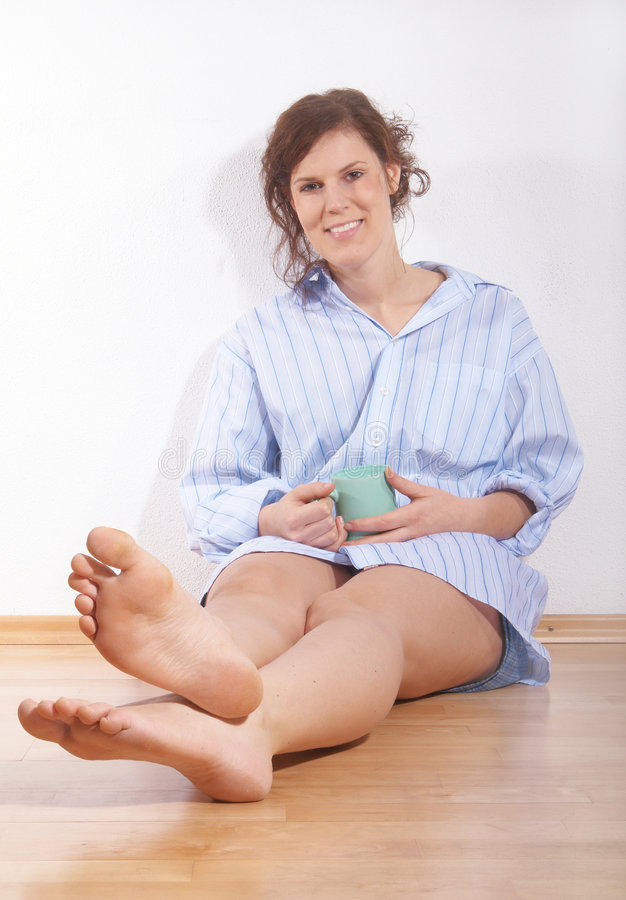 Relaxing in the morning royalty free stock photo