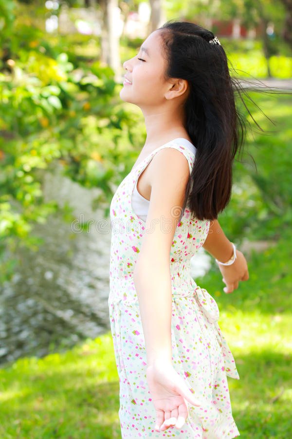 Download Relaxing with nature stock photo. Image of teen, green - 26052020
