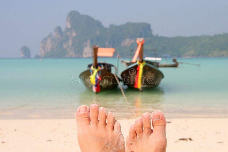 Relaxing in paradise royalty free stock photo