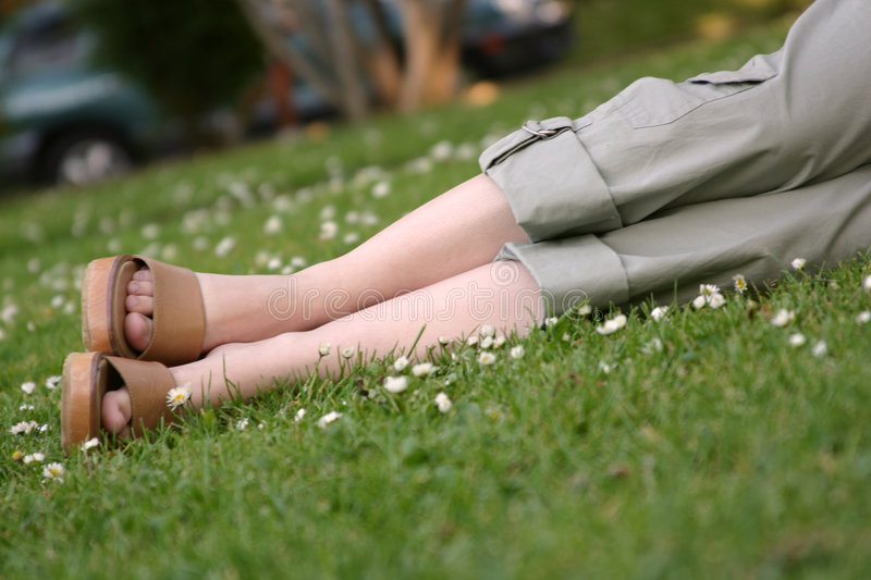 Relaxing in the park royalty free stock images