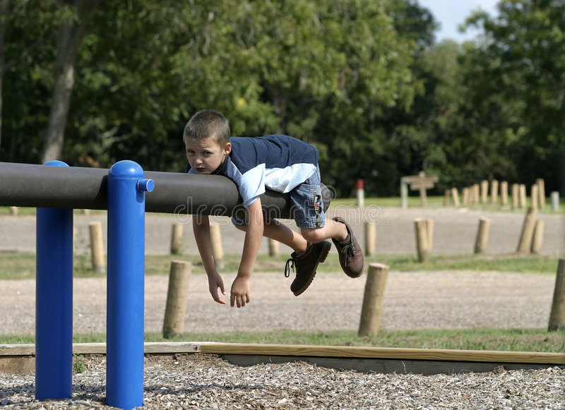 Relaxing on playground royalty free stock images