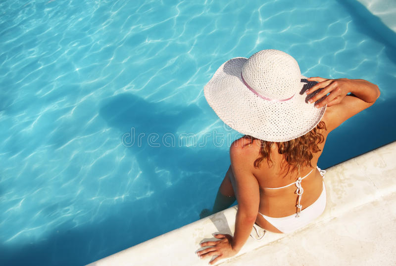 Download Relaxing at the pool stock photo. Image of pool, beautiful - 10179072