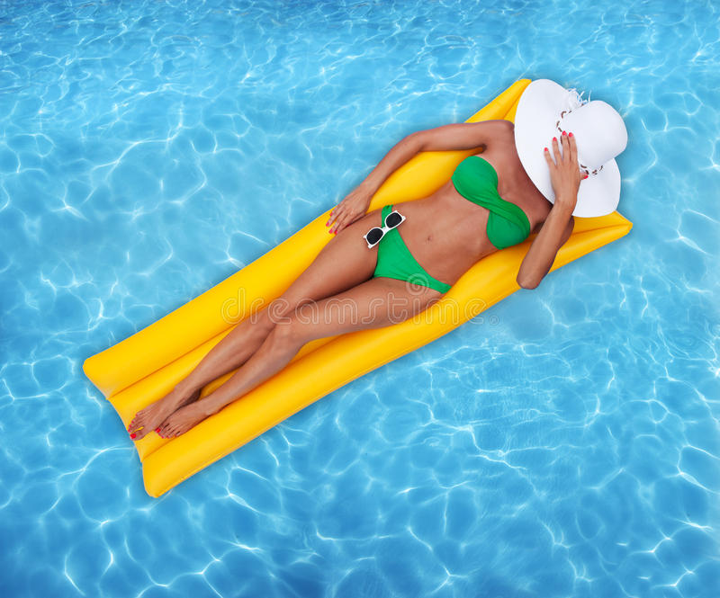 Relaxing in a pool royalty free stock photography