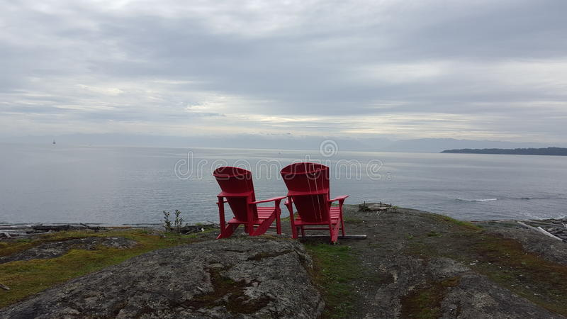 Relaxing in the red royalty free stock photography