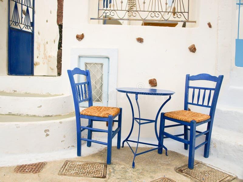 Relaxing in Santorini, Greece stock photos