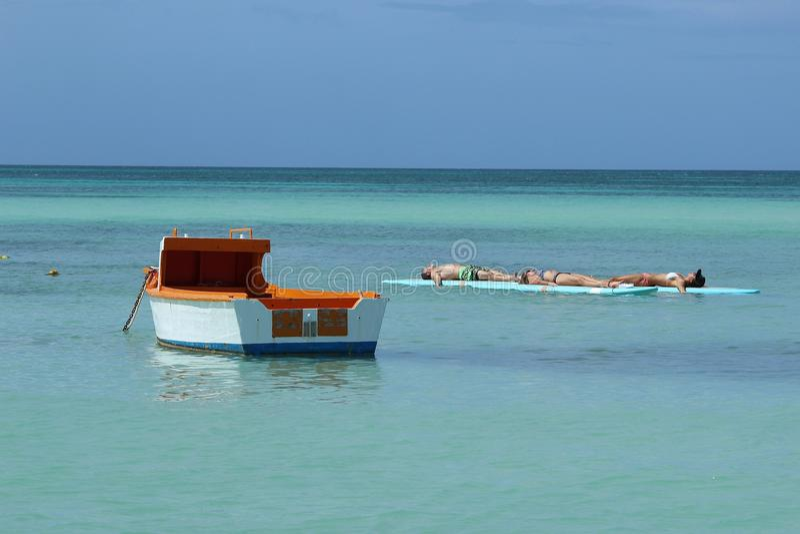Relaxing at Sea royalty free stock photos
