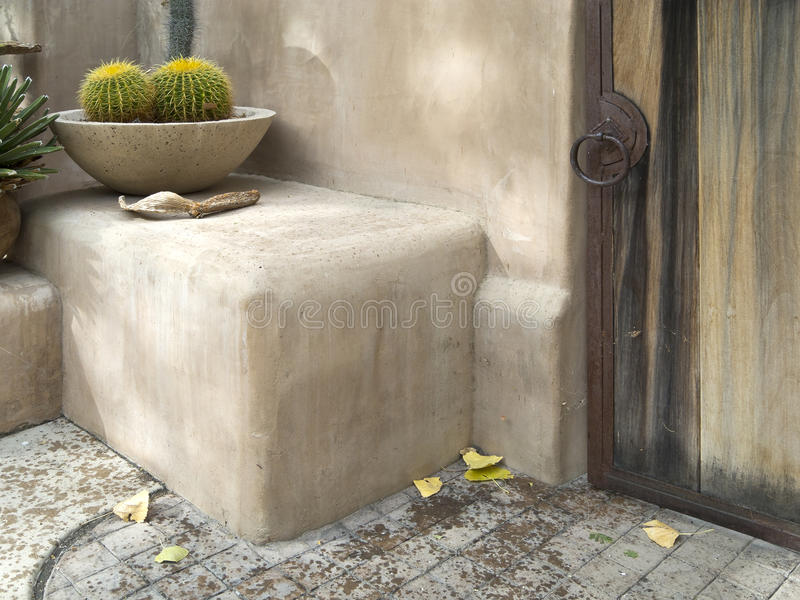 Relaxing Setting In A Desert Garden Royalty Free Stock Images